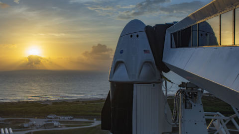 Weather Delays Launch Of SpaceX Dragon With 2 Astronauts Aboard