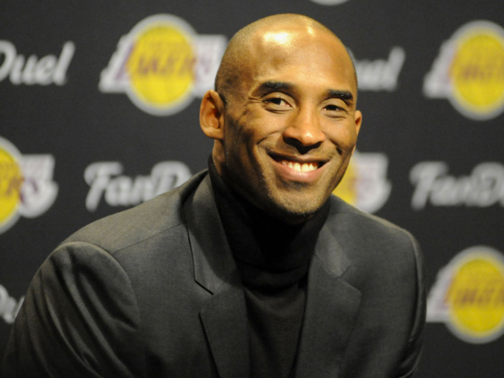 The late Kobe Bryant headlines the star-studded Basketball Hall of Fame Class of 2020. The event is postponed to 2021. Bryant is pictured speaking to the media prior to a game against the Cleveland Cavaliers in February 2016.