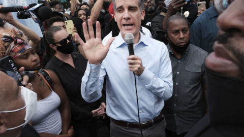 Amid Protests Against Police Violence LA Mayor Eric Garcetti Announces Cuts To LAPD