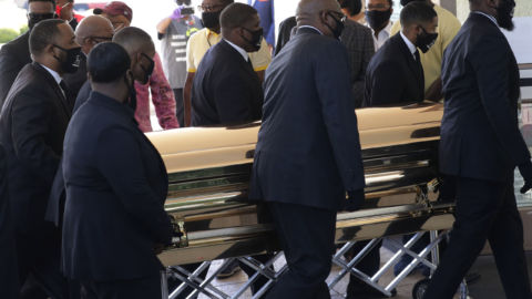Mourners Pay Their Respects To George Floyd At Public Viewing In Houston