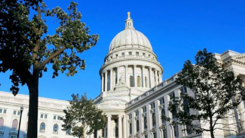 Unrest In Madison, Wis., Overnight Leaves Statues Toppled, State Senator Injured