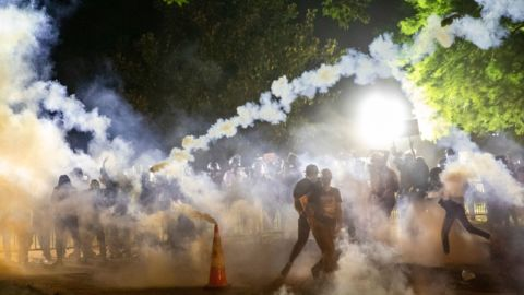 Tear-Gassing Protesters During An Infectious Outbreak Called 'A Recipe For Disaster'