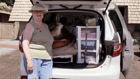 For Portland, Ore., Woman, Home These Days Is Where She Parks Her Minivan