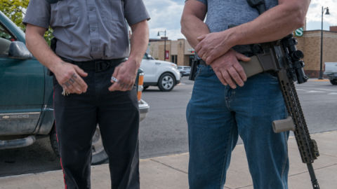 The 'Concerned Citizen Who Happens To Be Armed' Is Showing Up At Protests