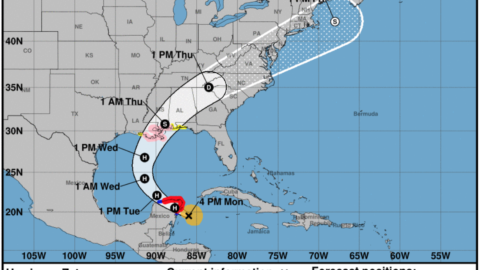 Now A Hurricane, Zeta Is On Track To Hit Louisiana On Wednesday