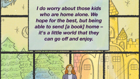 COMIC: 'Place Of Peace And Security': Bringing The Library Home During The Pandemic