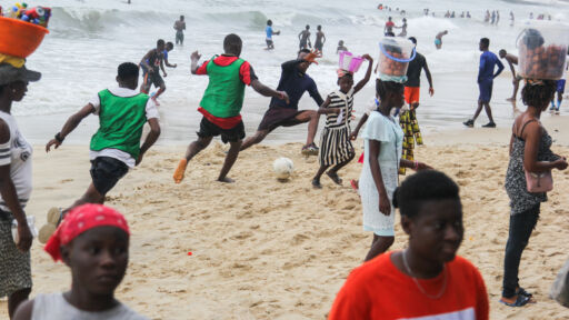 Sunday On The Beach With Sierra Leonean Soccer Players