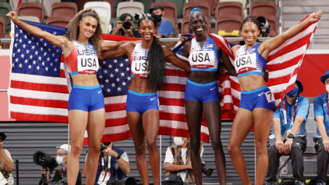 U.S. Women Win 4×400, And Allyson Felix Becomes The Most Decorated U.S. Track Athlete