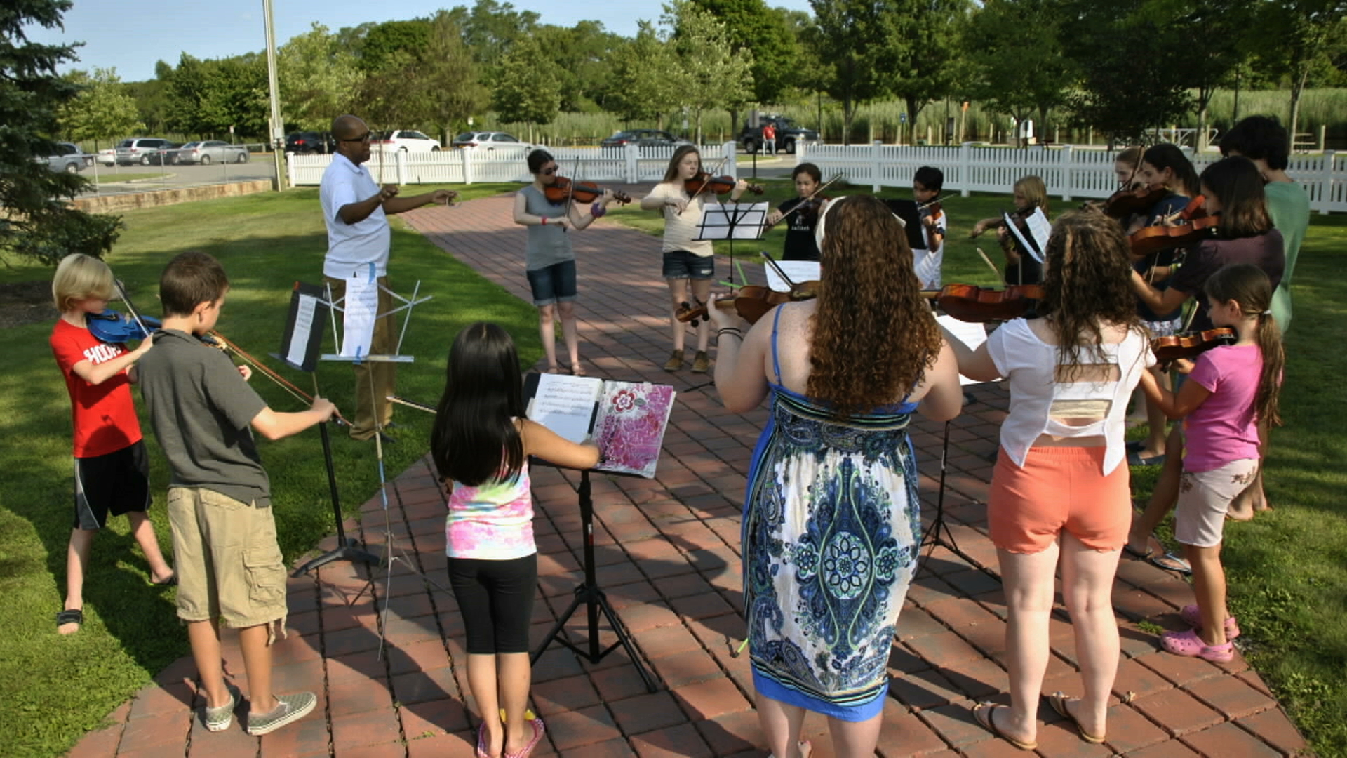 Students at the Perlman Music Program on eastern Long Island, featured on WLIW ArtsBeat on November 3, 2016.