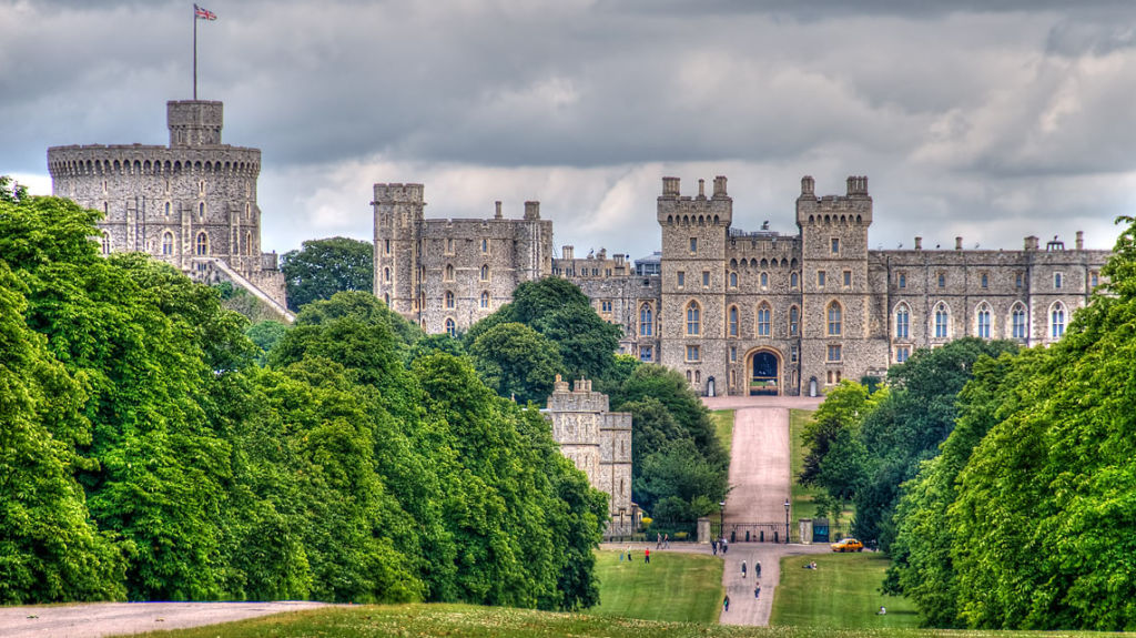 Windsor Castle, a residence of the royal family in the UK.