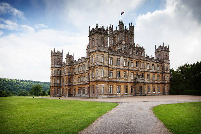 Highclere Castle in Hampshire, England.