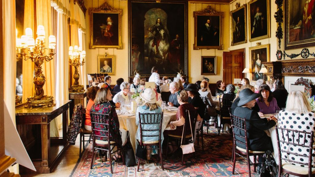 The WLIW To the Manor Born luncheon at Highclere Castle.