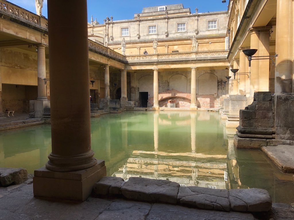 The Roman Baths in Bath, which give the city its name.