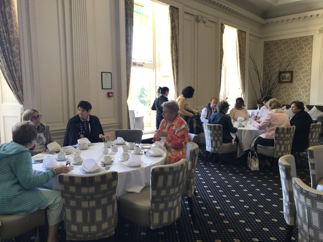 Afternoon tea for our group at Cricket St. Thomas