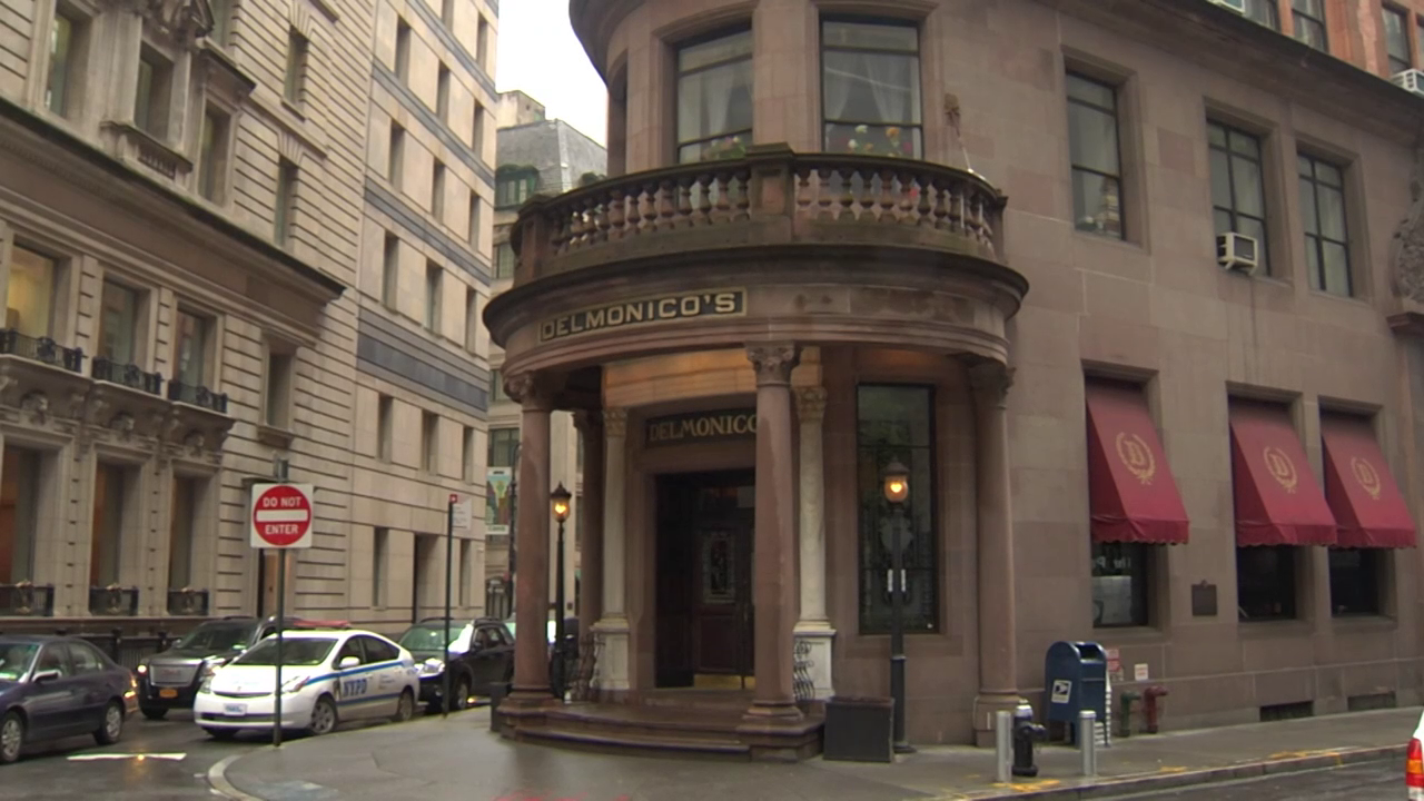 Delmonico's location today at 56 Beaver Street in the Financial District.