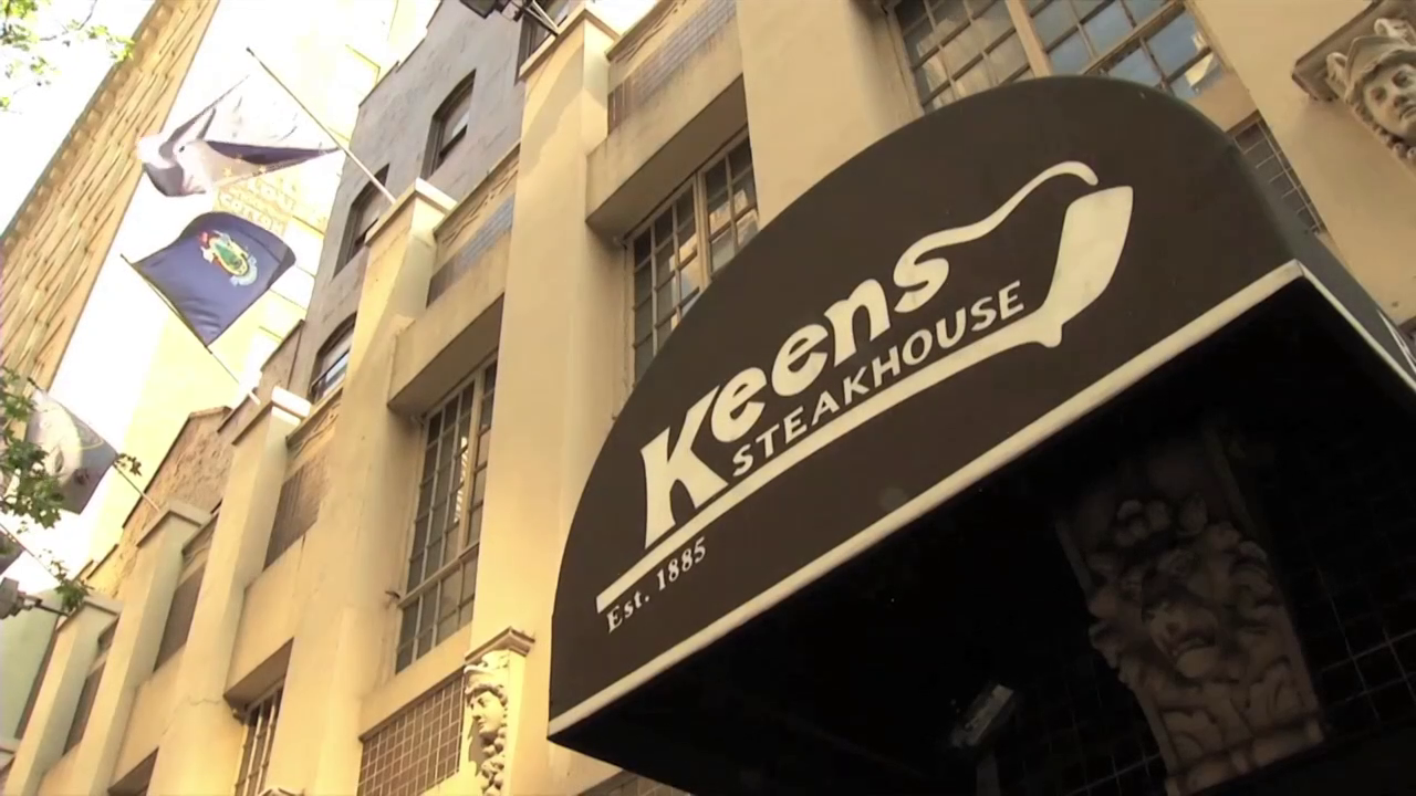 Keens Steakhouse at 72 W 36th Street.